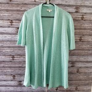Eileen Fisher 100% Linen Open Front Cardigan S